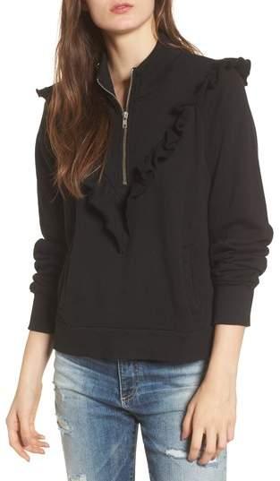 Wildfox Couture Prima Ruffle Warm-Up Pullover