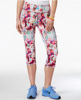 Material Girl Active Juniors' Printed Cropped Leggings, Only at Macy's