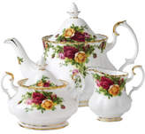 Royal Albert Old Country Roses Teapot, Sugar & Cream Set
