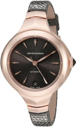 Emporio Armani Swiss Made Women's ARS8203 Analog Display Swiss Automatic Grey Watch