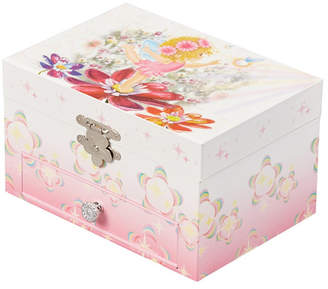 Mele Ashley Girl Musical Ballerina Fairy and Flowers Jewelry Box