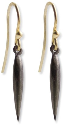 Marion Cage Swell Dangle Earrings - Black Rhodium