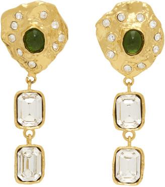 MONDO MONDO Gold Oyster Clip-On Earrings