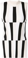Derek Lam striped knit sleeveless top - women - Polyester/Viscose - XS