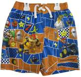 Super Mario Little Boys Blue Character Printed Swim Wear Shorts 5-6
