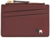 MAISON KITSUNÉ Zip-fastening grained-leather cardholder