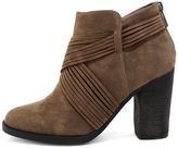 Bamboo Olena Black Suede Ankle Booties