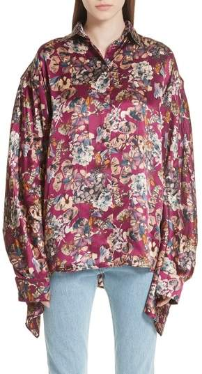Y/Project Floral Silk Blouse