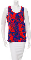 Carven Printed Sleeveless Top w/ Tags
