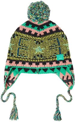 Acne Studios Pompom-embellished Jacquard-knit Wool Beanie