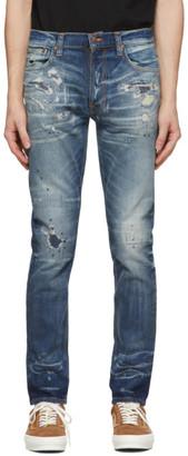 Nudie Jeans Blue Worn Lean Dean Jeans
