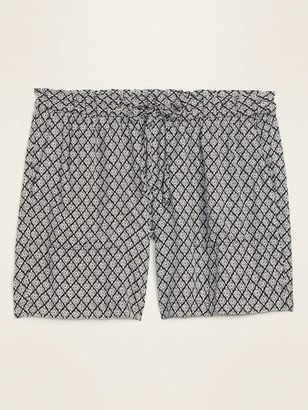 Old Navy High-Waisted Printed Soft-Woven Plus-Size Shorts -- 7-inch inseam