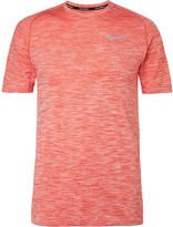 Nike Running - Mélange Knitted Dri-fit T-shirt
