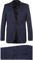 HUGO BOSS Navy Nestro Byte Slim-fit Wool-blend Twill Travel Suit - Navy