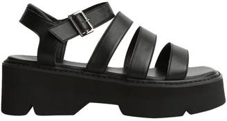 Tony Bianco Jaya Black Como Sandals