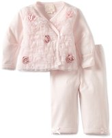 Biscotti Baby-girls Newborn Ruffles and Roses Top with Pant Set