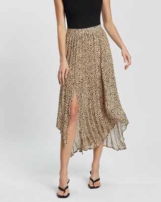 Atmos & Here Atmos&Here - Women's Brown Pleated skirts - Myla Pleated Skirt - Size 6 at The Iconic