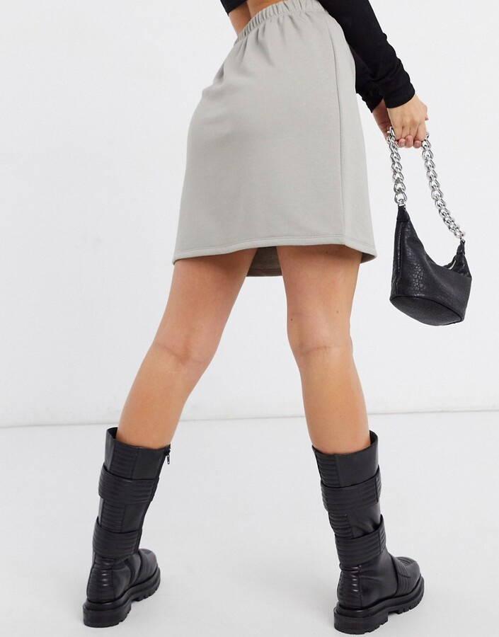 Thumbnail for your product : NA-KD sweat skirt in grey