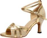 Arboo Q-7027 Womens Latin Tango Ballroom Dance Party wedding Peep-toe PU Dance-shoes M US Size10.5