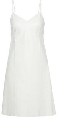 Helmut Lang Textured-leather Mini Dress