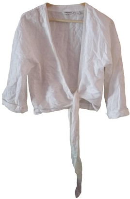 Country Road White Linen Top for Women