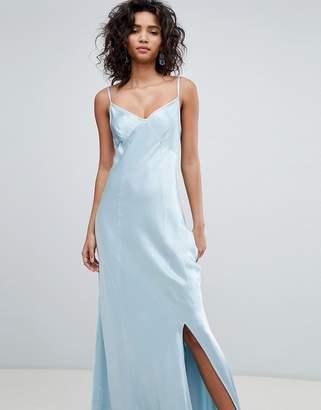 Ghost bridesmaid satin maxi cami dress-Black
