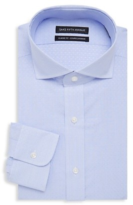 Saks Fifth Avenue Classic-Fit Fine Stripe Dobby Dress Shirt