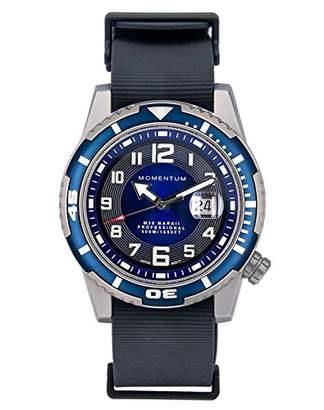 Momentum Men's M50 Stainless Steel Quartz Diving Watch with Rubber Strap