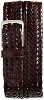 Trafalgar Men's Enzo Braided Leather Belt