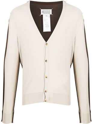 Maison Margiela Two-Tone Lightweight Cardigan