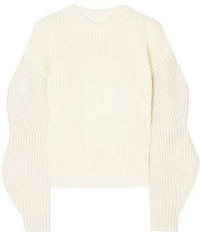 Chloé Ribbed-knit Wool And Silk-blend Sweater