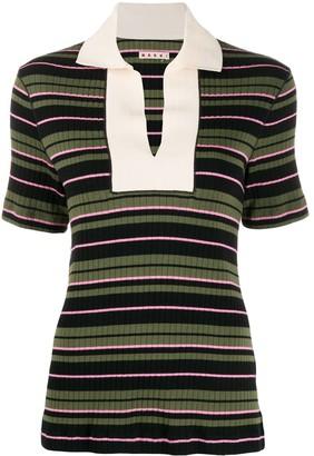 Marni ribbed striped T-shirt