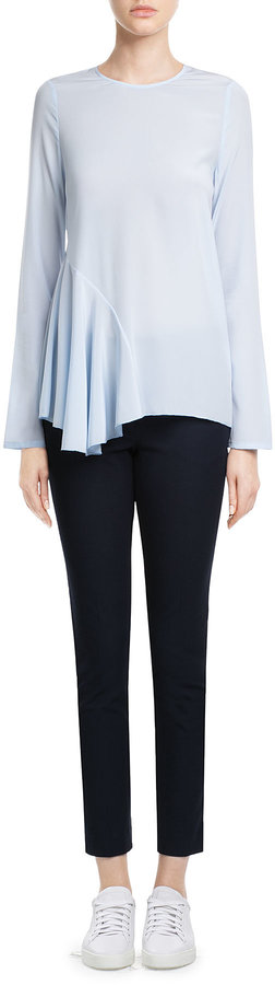 Steffen Schraut Silk Blouse with Pleated Insert