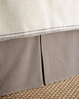 French Laundry Home King Kent Wood Stripe Dust Skirt