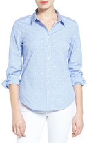 Halogen Dobby Dot Check Cotton Shirt (Petite)