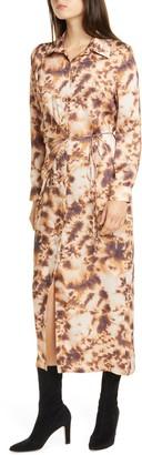 Nanushka Bisso Long Sleeve Maxi Shirtdress