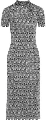 Paco Rabanne Scalloped Metallic Jacquard-knit Dress