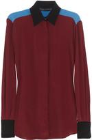 Jonathan Saunders Lazlo color-block crepe de chine shirt