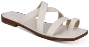 Marc Fisher Arena Toe-Strap Flat Sandals Women's Shoes