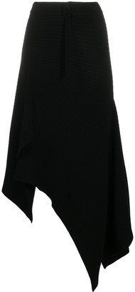 Marques Almeida Asymmetric Handkerchief Hem Knit Skirt