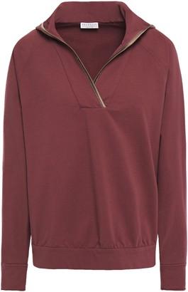 Brunello Cucinelli Bead-embellished Cotton-blend Fleece Hoodie