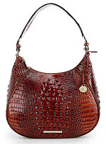 Brahmin Melbourne Collection Amira Crocodile-Embossed Hobo Bag