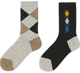 Uniqlo Women Heattech Socks 2 Pairs (Pile Argyle)