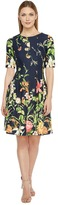 Christin Michaels Elise 3/4 Sleeve Fit and Flare Dress