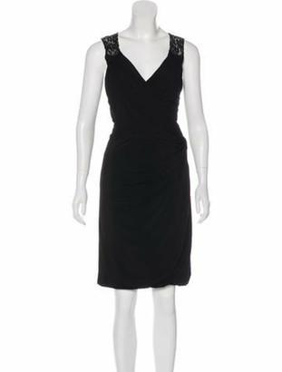 Dolce & Gabbana Sleeveless Lace Dress Black