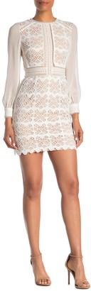 Reiss Aria Lace Mini Dress