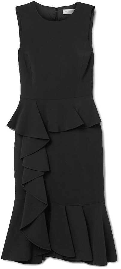 Michael Kors Collection Ruffled Stretch-cady Dress