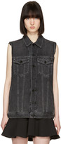 Alexander Wang Grey Denim Daze Vest