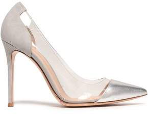 Gianvito Rossi Metallic Leather, Suede And Pvc Pumps
