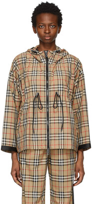 Burberry Beige Check Bacton Jacket